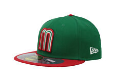 New Era 59Fifty Hat World Baseball Classic Mexico Fitted 5950 Cap Green Red