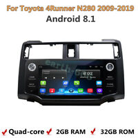 Android 8.1 black Car Stereo Radio DVD Player GPS Bluetooth For Toyota 4Runner