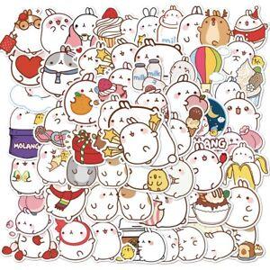 50Pcs Molang Rabbit Anime Japanese Waterproof PVC Stickers Scrapbooking DIY Cute