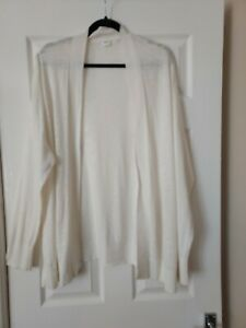 LADIES WHITE OPEN FRONT CARDIGAN TOP SIZE XL (22/24) BY GAP
