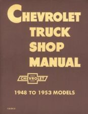 Chevrolet 1948 thru 1953 Truck Shop Manual Chevy Pickup