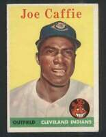 1958 Topps #182 Joe Caffie EX/EX+ RC Rookie Indians UER 71607
