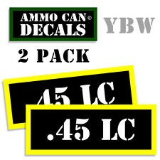 .45 LC Ammo Label Decals Box Stickers decals - 2 Pack BLYW