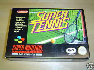 SUPER TENNIS SUPER NINTENDO SNES PAL *BRAND NEW*
