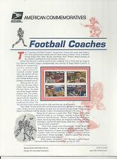 # 3143-3146 FOOTBALL COACHES: BEAR BRYANT, POP WARNER  1997 Commemorative Panel