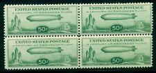 US #C18 50¢ Zeppelin, Block of 4, og, NH, VF, Scott $350.00