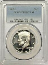 1969 S Proof Kennedy Half Dollar PCGS PR68 CAM Silver Registry Coin