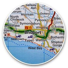2 x Vinyl Stickers 30cm - Bridport England Travel UK GB  #44451