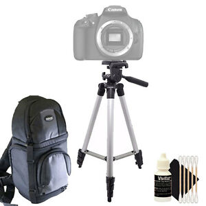Tall Tripod + DSLR Backpack + Cleaning Kit for Canon EOS Rebel T5 T6