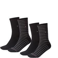 4 Paar Tommy Hilfiger Damen Socken Stripe 35-38 schwarz