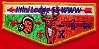 MERGED ILLINI WAUKHEON OA LODGE 55 PRAIRIELANDS COUNCIL PATCH 10TH ANNIV FLAP