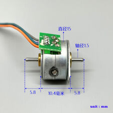 15by Micro 15mm 2 Phase 4 Wire Stepper Motor Dual 15mm Shaft Stepping Motor