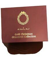 The Millennium 2000 Set Of 12 Danbury Mint Gold Christmas Ornaments In Box.