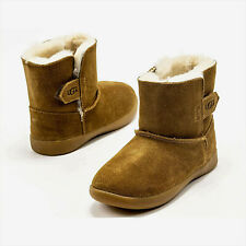 Ugg Australia Keelan Chestnut Suede Sheepskin Toddler Boots NEW