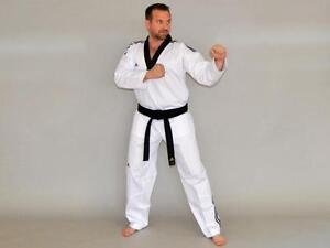 Adidas Taekwondoanzug Adiclub 3S. In 180-200cm, schw. Rev. Für Schwarzgurte, TKD