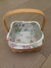 Longaberger Square Basket With Handle Liner And Plastic Protector Signed 2008