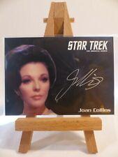 Star Trek TOS 50th silver autograph card Joan Collins as Sister Edith Keeler