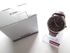Timex Men's T2N948 South Street Brown Crocodile Pattern Leather Strap Watch