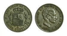 pcc1585_53) SPAGNA SPAIN Alfonso XIII - 5 Centimos 1879 Barcelona  OM