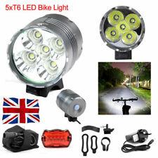 7000LM High Power 5x T6 LED Front Bicycle Bike Light Lamp Headlamp Headlight UK