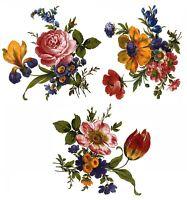 Classic Vibrant Retro Flower Bouquet Select-A-Size Waterslide Ceramic Decals Bx