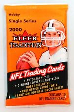 2000 Fleer Tradition NFL Football Trading Cards Sealed Hobby Pack