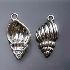 5 Piece 25*13mm 3D conch shell Charms Tibetan Silver Jewelry Finding Bails 7432A