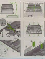 Lichtschachtabdeckung aus Alu 50x125cm Kellerschacht Gitterrost trittfest