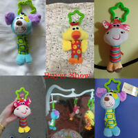 Baby Infant Rattles Plush Animal Stroller Hanging Bell Play Toys Soft Bed Doll
