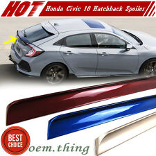 Painted Color Honda Civic 10th Hatchback Rear Trunk Lip Spoiler 2017 New