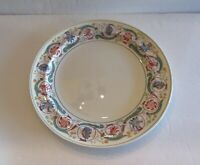 """2 Vintage Wedgwood Pottery """"Italy Border"""" Dinner Plates Polychrome Decorated 10"""""""