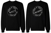 Christmas Gift for Best Friends - Naughty and Nice BFF Matching Sweatshirts