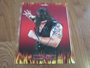 Abyss Autograph Hand Signed 8x10 TNA Wrestling