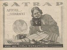 Z0789 Articoli fotografici SATRAP - Pubblicità del 1925 - Advertising