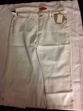 (New w Tags) Apple Bottoms Women Capri Pant White Embroidered Sequin Pockets 16
