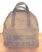 VINTAGE 1960's U.S. COAST GUARD RADIO SET AN/PRC-59 CANVAS BAG USCG RADIO BAG