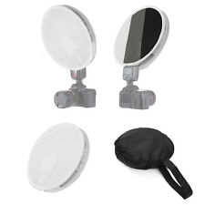 31cm Mini Portable Round Disc Diffuser Softbox Flash for Canon Nikon Sony Godox