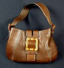 Adrienne Vittadini Leather Handbag Purse Bag with Buckle