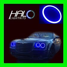 2005-2010 CHRYSLER 300C BLUE PLASMA LIGHT HEADLIGHT HALO KIT 4 RINGS by ORACLE