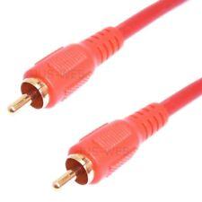 Cable de Audio Enchufe Rca 5m Coaxial Digital Spdif Rca Coax Dorado Kaf