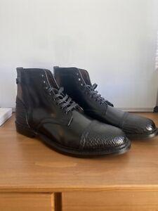 Brand New! Allen Edmonds Black Shell Cordovan/Shark Skin Landon 1/1 Rare Size 9D