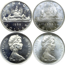 1966 Canada $1 Voyageur Silver Dollars Km# 64.1 Uncirculated 1 Coin Only