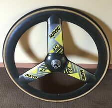 RARE MAVIC 3G REAR 700 TRACK ORIGINAL Pista Fixed Gear Trispoke Carbon Lowpro