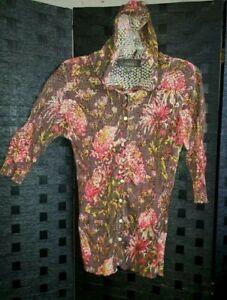 Charlotte Tarantola Hoodie blouse large shirt long sleeve