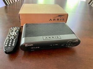 ARRIS Frontier Set Top TV Receiver Box Model VIP2502W Power Adapter Remote
