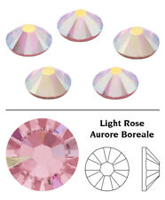 Genuine Swarovski Crystals 2058 & 2088 Foiled Flat Backs No Notfix * Many Colors Ss12 (3.2mm) 40 Crystals/pack Light Rose Aurore Boreale