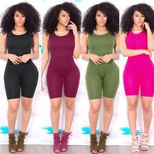 Sexy Women Casual Sleeveless Bodycon Romper Jumpsuit Club Bodysuit Short Pants