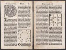 1497 Erschaffung der Welt Genesis Gott Schedel Incunable Inkunabel Holzschnitt