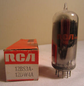 RCA 12bs3a/12dw4a 12BS3A 12DW4A Electron Électronique Aspiration Tube en Boîte