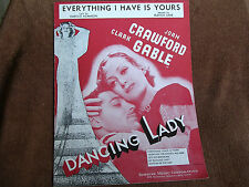 Everything I Have Is Yours/from Dancing Lady/Clark Gable-Joan Crawford Photo
